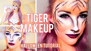 tiger halloween makeup tutorial inthefrow youtube