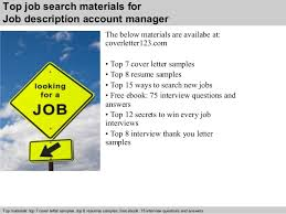 Account Executive Job Description Resume by Job Description Account Manager Executive Cover Letter