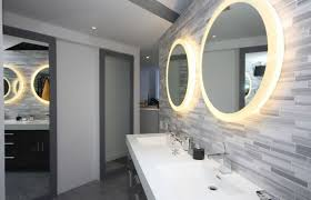 Round Bathroom Mirrors by Round Bathroom Mirror With Lights For Modern Bathroom Designs 2016