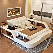 Bookcase Bedroom Sets Luxury Bedroom Furniture Sets Modern Leather King Size Double Bed