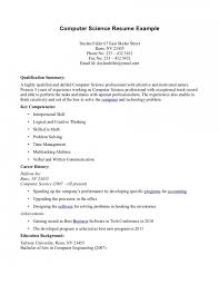 resume sle resume bachelor of science computer science skills resume sle