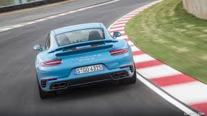porsche racing colors 2016 porsche 911 turbo s coupe color miami blue rear hd