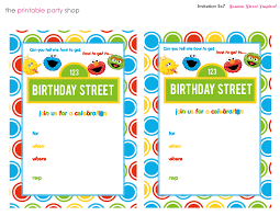 sesame street birthday party invitation templates benjamin u0027s 1st