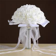 Fake Flowers For Wedding - bridal wedding artificial flowers bubble emulation flowers white