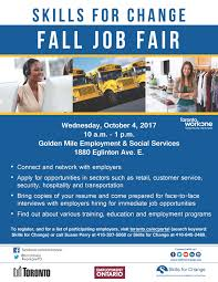Skills For Resume Retail Skills For Change Fall Job Fair Employment U0026 Social Services
