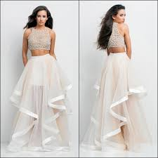 two dress set mesh two crop top with irregular skirt dress set