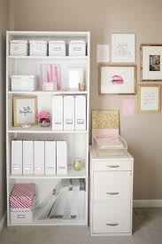 Glitter Desk Accessories The Prettiest Organizational Hacks For Every Room In Your Home Via