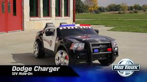 kid trax 12 volt dodge charger police car youtube