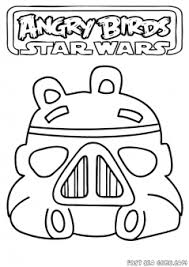 printable angry birds star wars storm trooper coloring pages