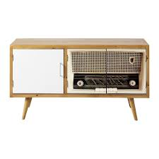 meuble design vintage meuble tv vintage fifty u0027s maisons du monde