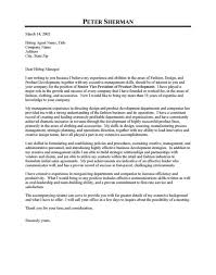 fashion cover letter examples