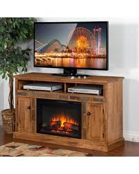 Electric Fireplace Media Console Amazing Deal On Sunny Designs Sedona 54 In Electric Fireplace