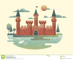 Palace Design Castle Design Flat Stock Vector Image 70087397