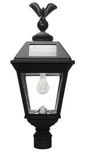 Outdoor Electric Post Lights by Gama Sonic Imperial B Solar Lamp 3