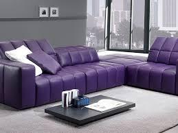 adorable purple leather furniture set and sofas center purple