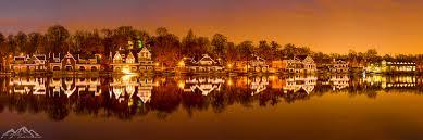 Boat House Row - reflections abe pacana panorama blog