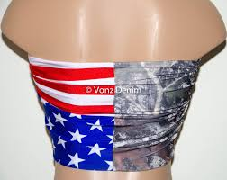 Rebel Flag Lingerie American Flag And Camo Bandeau Beach Bra From Voneenz Epic