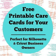 printable vinyl letters free printable care cards for your silhouette or cricut business