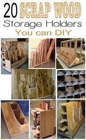Plywood Storage Rack Free Plans by Remodelando La Casa 20 Scrap Wood Storage Holders You Can Diy