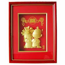 wedding gift gold 24k gold foil arts 3d gold foil picture frame table