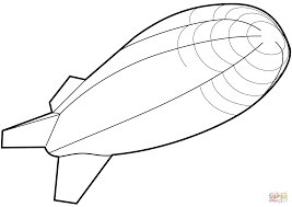 airship coloring page free printable coloring pages