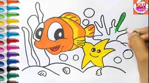 aquarium coloring page how to draw aquarium fish coloring page for kids youtube