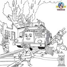 flynn fire engine truck thomas train coloring book pages