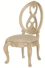 splat oval back side chair with scroll legs by american drew