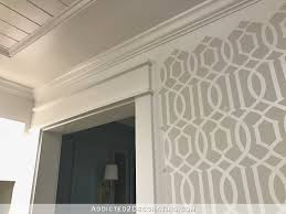music room walls progress u2013 stenciled trellis design