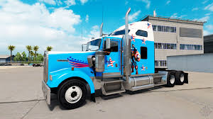 kenworth america skin captain america on the truck kenworth w900 for american truck