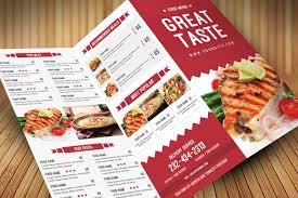 restaurant food menu brochure templates creative market