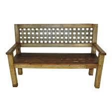 lattice back wood bench ski country antiques u0026 home