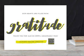 Business Holiday Card Swell Of Gratitude Business Holiday Cards By Snow Minted