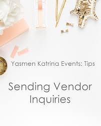 wedding vendor websites tips sending an inquiry to vendors orlando wedding planner