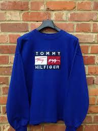 vintage hilfiger sweaters vintage retro hilfiger sweatshirt size xl sweater jumper