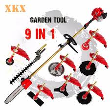 2016 new 2 stroke 52cc 1 75kw 9 in 1 pole chainsaw hedge trimmer