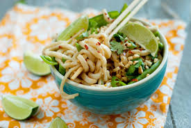 takeout fake out coconut peanut udon noodle bowls