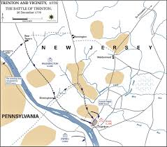 Princeton Map Of The Battle Of Trenton December 26 1776