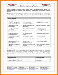 Electrical Engineer Resume Template 5 Resume Format For Diploma In Electrical Engineering Sample