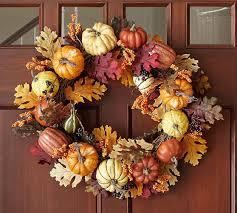 harvest pumpkin wreath garland pottery barn home decor