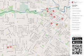 Downtown Houston Map Houston Printable Tourist Map Sygic Travel