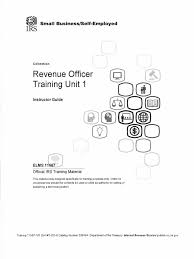revenue officer training unit 1 form 09 064 federal insurance