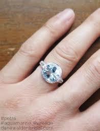 aquamarine and diamond ring unique aquamarine diamond engagement ring in white gold
