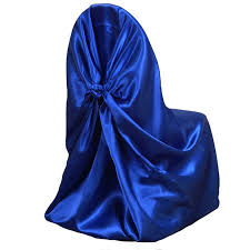 royal blue chair covers royal blue universal satin chair cover tablecloths factory