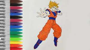 goku coloring book pages dragon ball z super saiyan 2 sailany