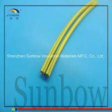 china polyolefin yellow green striped heat shrink tubing for earth