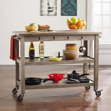 sei ricket industrial kitchen cart whitewashed burnt oak with