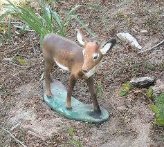 small concrete deer lawn ornament collectors weekly