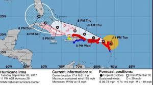 Mexico Hurricane Map Hurricane Irma Slams Into Barbuda Landfall In U S Depends On