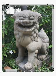 japanese garden statue cases skins by janetknapp